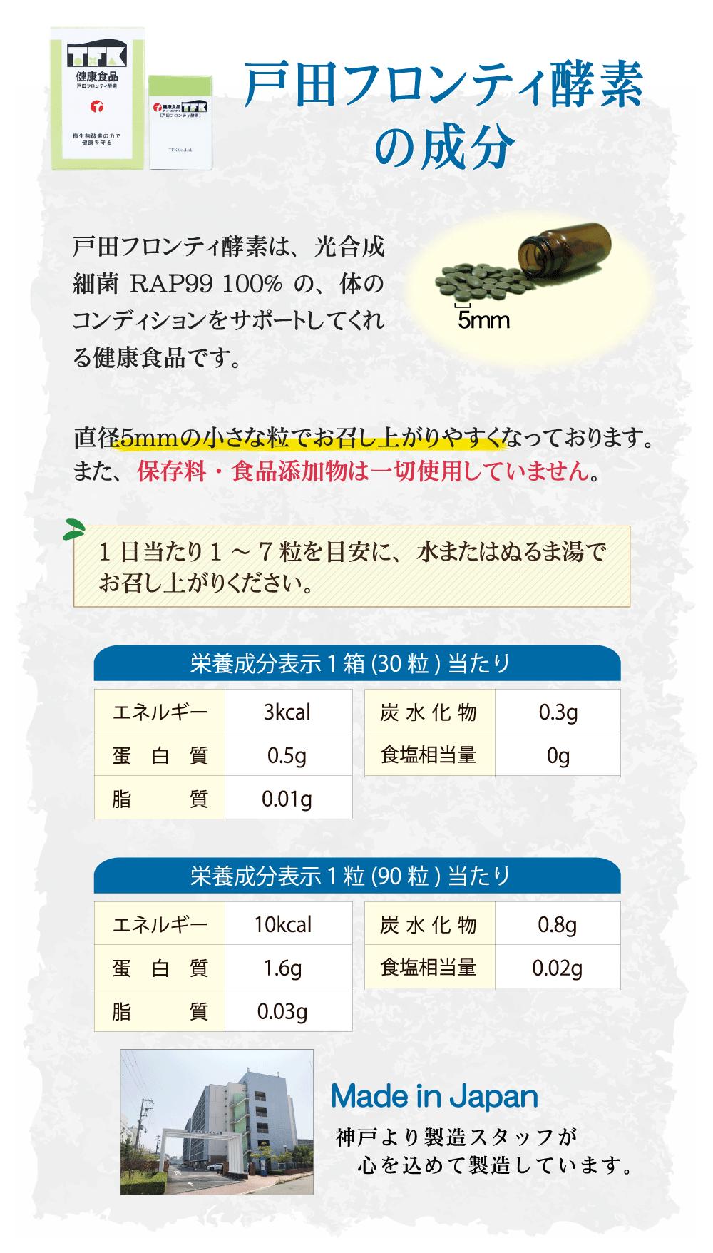 戸田フロンティ酵素成分